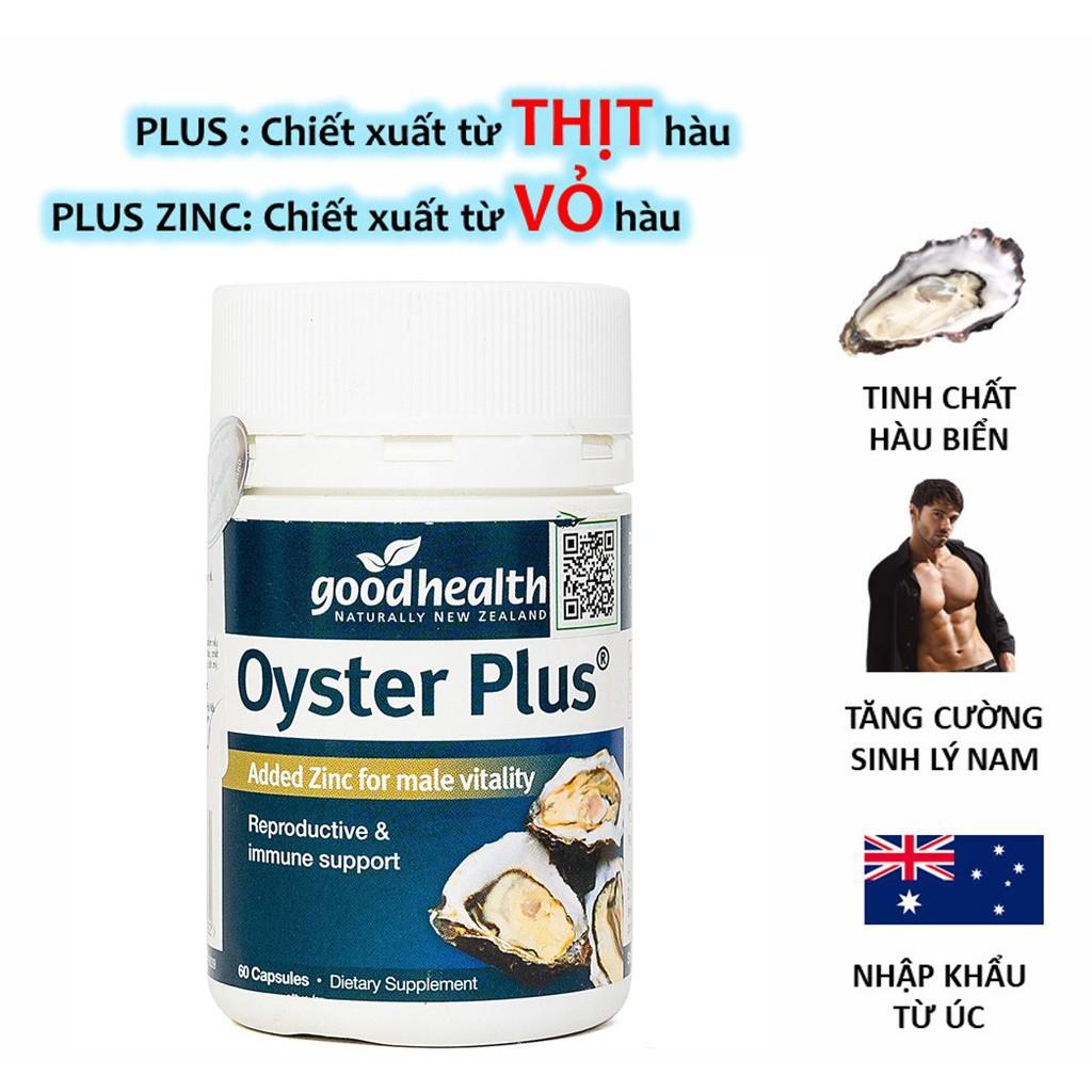 01 Hộp 60 viên - Tinh chất hàu New Zealand Good Health Oyster Plus tăng cường sinh lý nam giới   olostore