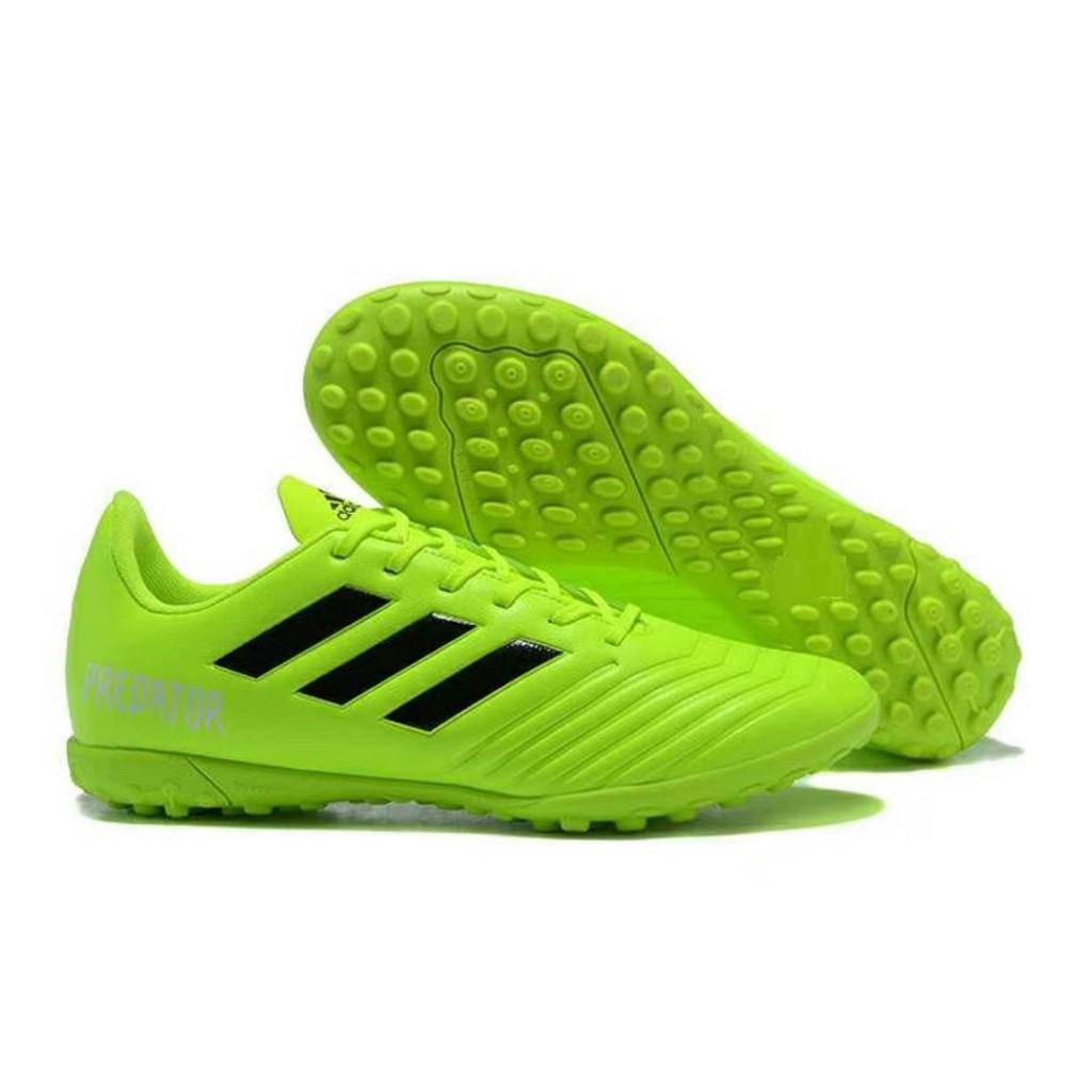 Giày bóng đá sân cỏ nhân tạo Predator xanh chuối xịn
