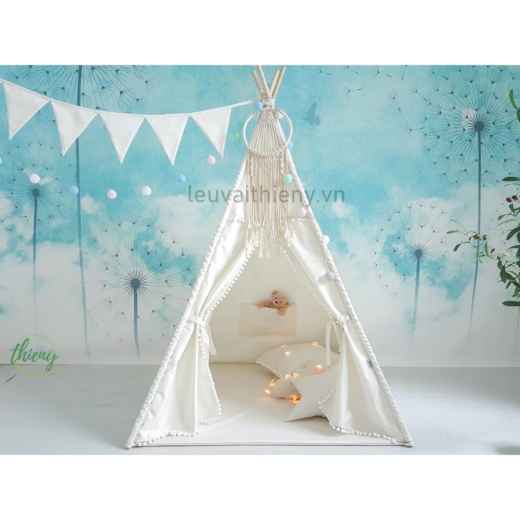 Lều vải Thiên Ý cho bé vải cotton 100% gỗ tự nhiên an toàn cho trẻ