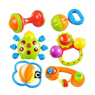 Bộ đồ chơi 7 món lục lạc – xúc xắc – lúc lắc ,phát ra âm thanh cho trẻ sơ sinh và trẻ nhỏ ngộ nghĩnh ,quà tặng cho bé