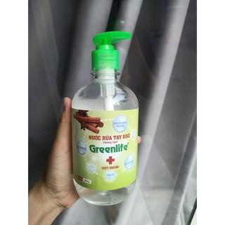 BÁN SỈ COMBO 5 Chai Nước rửa tay khô thiên nhiên Greenlife 500ml, gel rửa tay khô thiên nhiên greenlife hương hoa quả