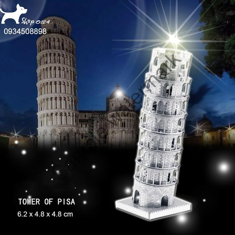 Đồ chơi mô hình lắp ghép bằng thép tháp nghiêng Tower pisa | HÀNG MỚI