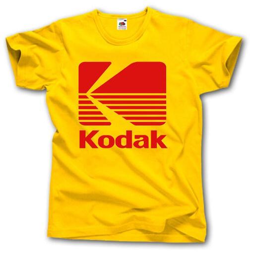 GILDAN Áo Thun Cotton Tay Ngắn In Logo Máy Ảnh Kodak Thời Trang Mùa Hè Cho Nam