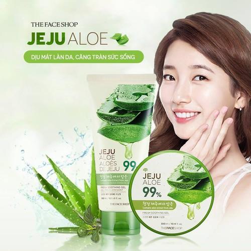 Gel Dưỡng Da Nha Đam The Face Shop Jeju Aloe Fresh Soothing Gel 300ml