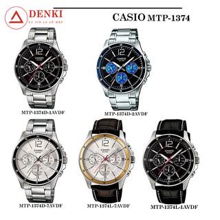 [CHÍNH HÃNG] Đồng hồ nam dây da, dây thép không gỉ Casio Standard Anh Khuê MTP-1374 Series MTP-1374D, MTP-1374L thumbnail