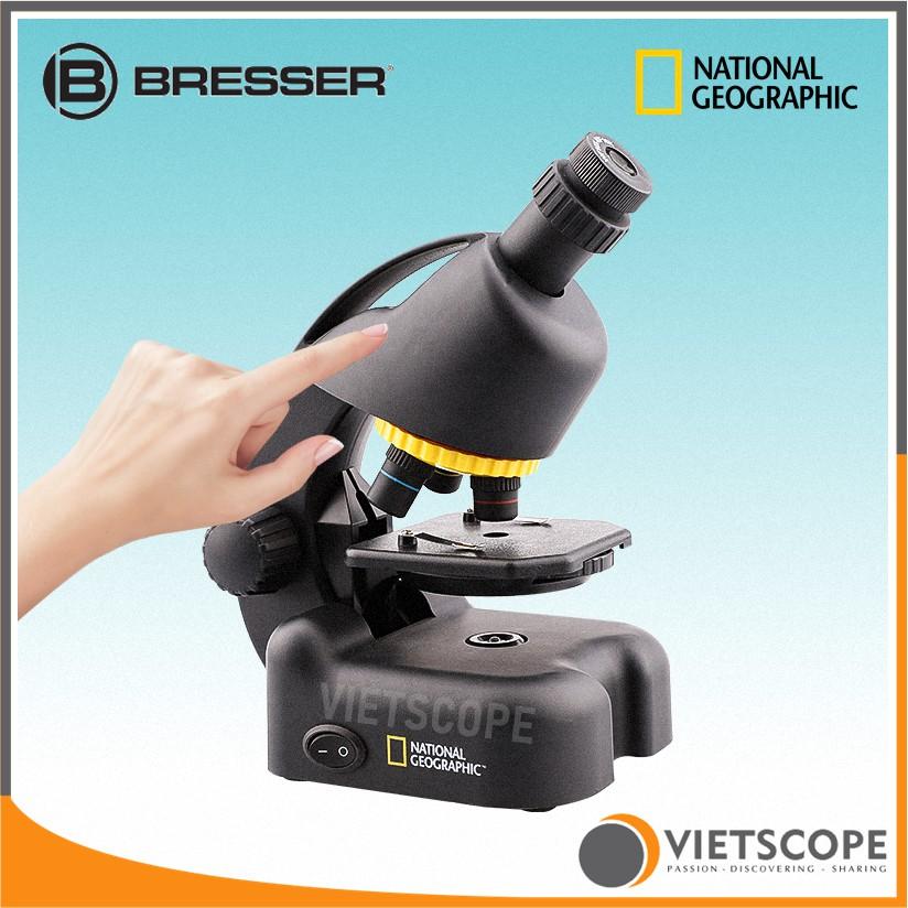 Kính hiển vi Bresser 40x-640x (Đức) phiên bản National Geographic dành cho học sinh