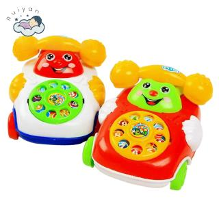 【RYT】Baby Toys Music Cartoon Phone Educational Developmental Kids Toy Gift New