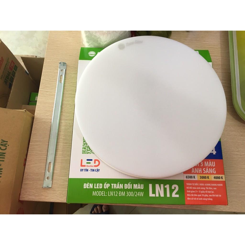 Đèn LED Ốp Trần Đổi Màu Rạng Đông Tròn D LN12L ĐM 300/24W - Đường kính 300mm