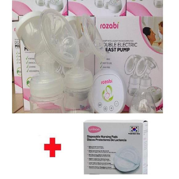 Máy hút sữa điện đôi RoZabi V1297, tặng thấm sữa Unimom 30M - 2519455 , 685689421 , 322_685689421 , 846000 , May-hut-sua-dien-doi-RoZabi-V1297-tang-tham-sua-Unimom-30M-322_685689421 , shopee.vn , Máy hút sữa điện đôi RoZabi V1297, tặng thấm sữa Unimom 30M