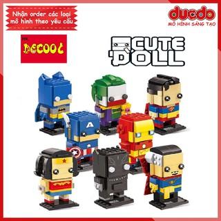 DECOOL 6801-6808 Brick Headz các siêu anh hùng - Đồ chơi Lắp ghép Mini Minifigures Batman Iron Man BrickHeadz thumbnail