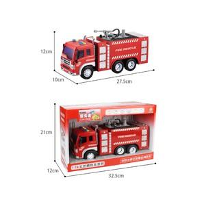 mô hình xe cứu hỏa phun nước thật xe vòi phun nước tỉ lệ 1:16