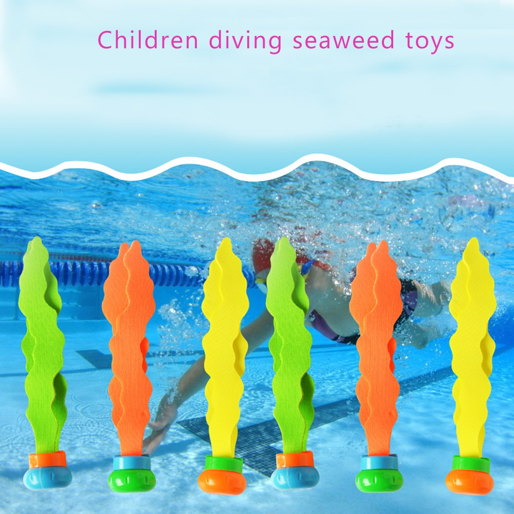 3Pcs Diving Swimming Colorful Pool Sink Training Diving Seaweed Toy