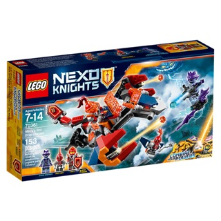 LEGO Nexo Knights 70361 – Macy's Bot Drop Dragon – Bộ xếp hình Lego Rồng bay máy của Macy