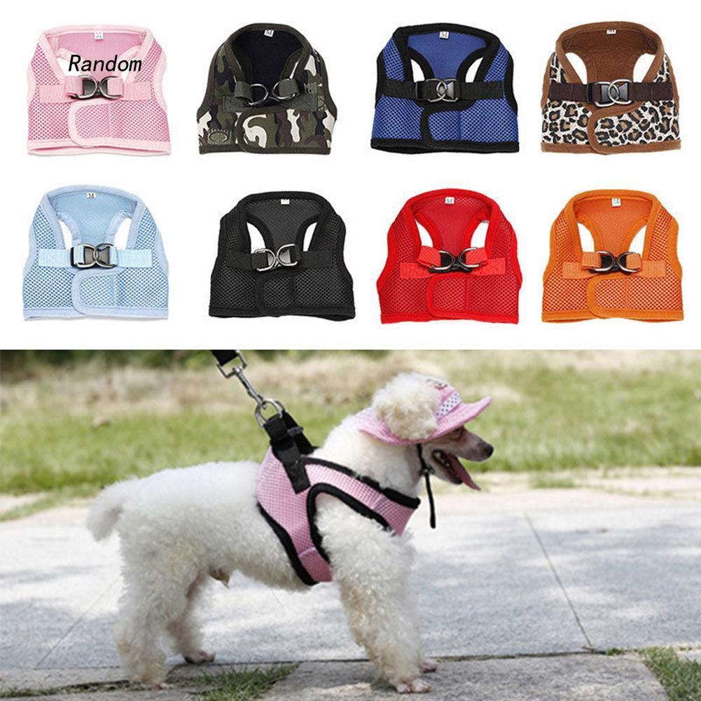 [RA]Soft Dog Harness Mesh Fabric Padded Pet Small Puppy Cat Buckle Walking Vest
