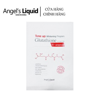 Mặt Nạ Dưỡng Trắng Tức Thì Angel s Liquid Tone Up Whitening Program Glutathione V-Ampoule Mask 25g thumbnail