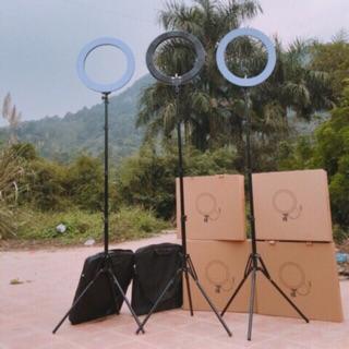 ĐÈN LED RING RL MAKEUP - LIVESTREAM 18inch 50cm kèm chân cao 2m to + túi đựng đèn và nút bluetooth chụp ảnh