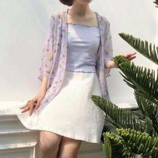 Kimono Tím Hoa Vàng Chùm thumbnail
