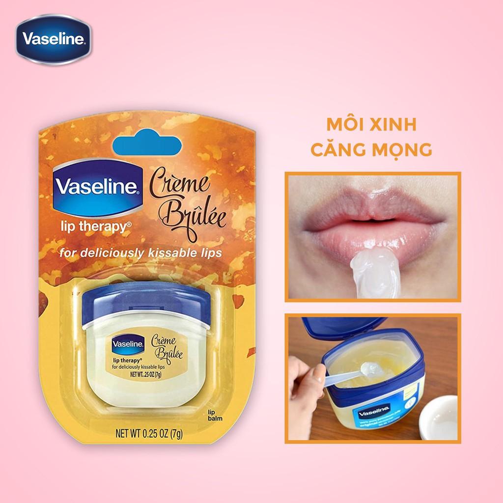 [Hàng Mỹ] Sáp Dưỡng Môi Vaseline Lip Therapy hũ mini 7g USA
