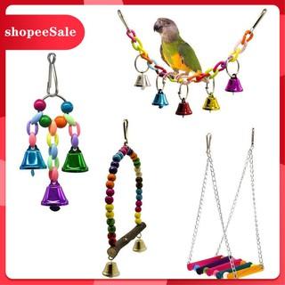 Set 4 đồ chơi treo thiết kế nhiều màu bắt mắt sống động cho chim vẹt[ hot sale ] thumbnail