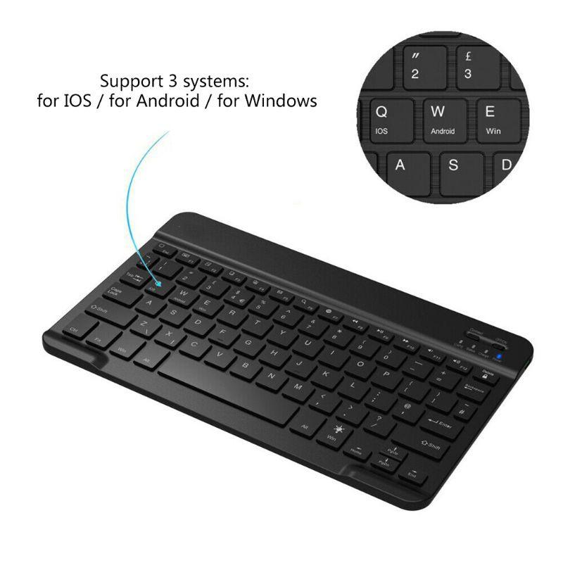 Bàn phím bluetooth không dây có đèn led 7 màu cao cấp cho cho ipad iphone laptop pc