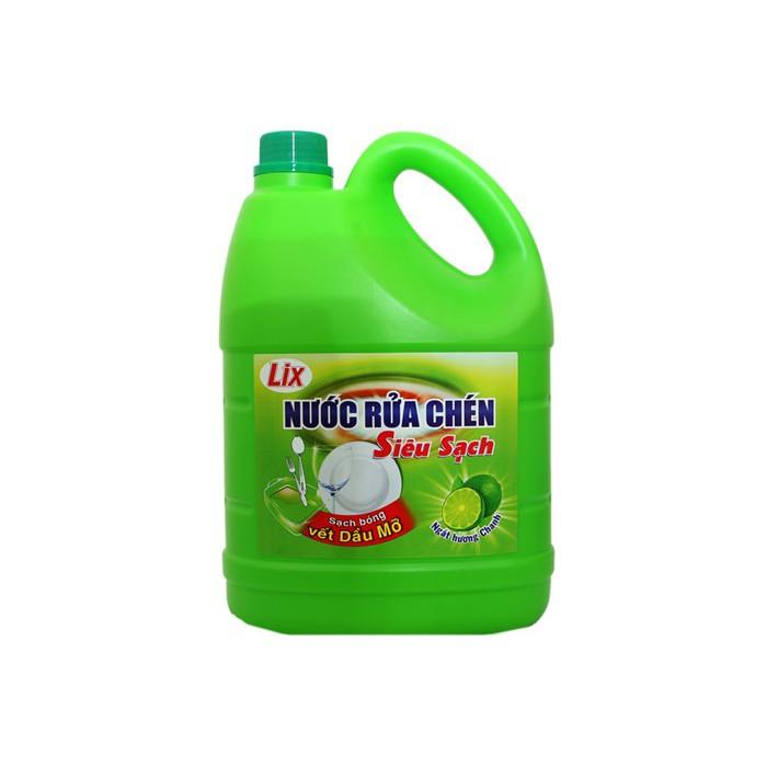 Nước rửa chén Lix Siêu sạch hương Chanh can 4kg - 3594600 , 1173495921 , 322_1173495921 , 54000 , Nuoc-rua-chen-Lix-Sieu-sach-huong-Chanh-can-4kg-322_1173495921 , shopee.vn , Nước rửa chén Lix Siêu sạch hương Chanh can 4kg