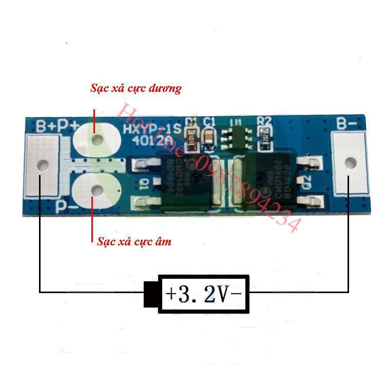 Mạch bảo vệ pin 3.2v HXYP-1S-4012A