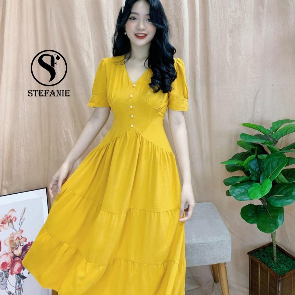 Váy Xòe - Đầm Dự Tiệc Stefanie form chuẩn , chất vải mango cao cấp che bụng-gọn người cho chị em công sở