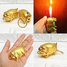Hột Quẹt Con Heo Vàng Móc Khoá