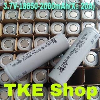 Cell Pin Xám 3.7V 18650-2000mah Xả 20A(10C)