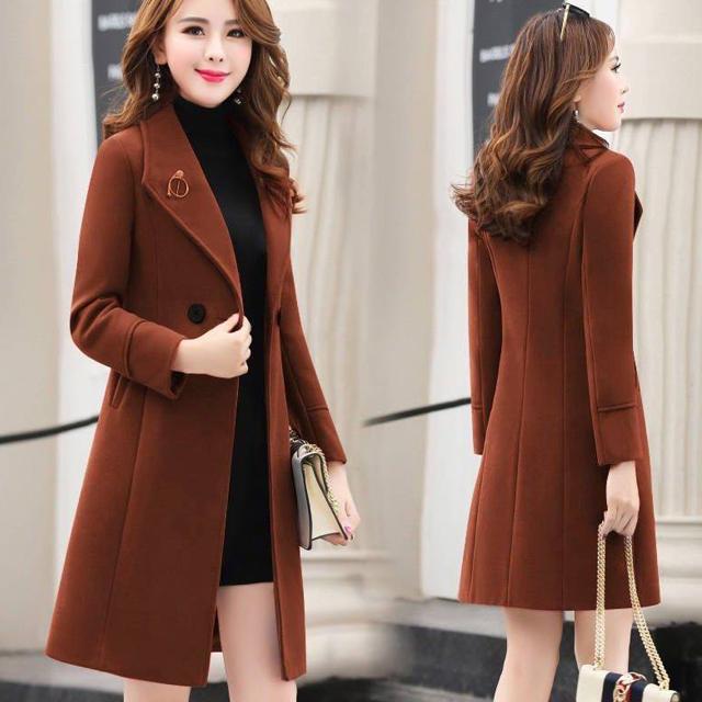 áo khoác nữ dáng dài thời trang phong cách hàn quốc