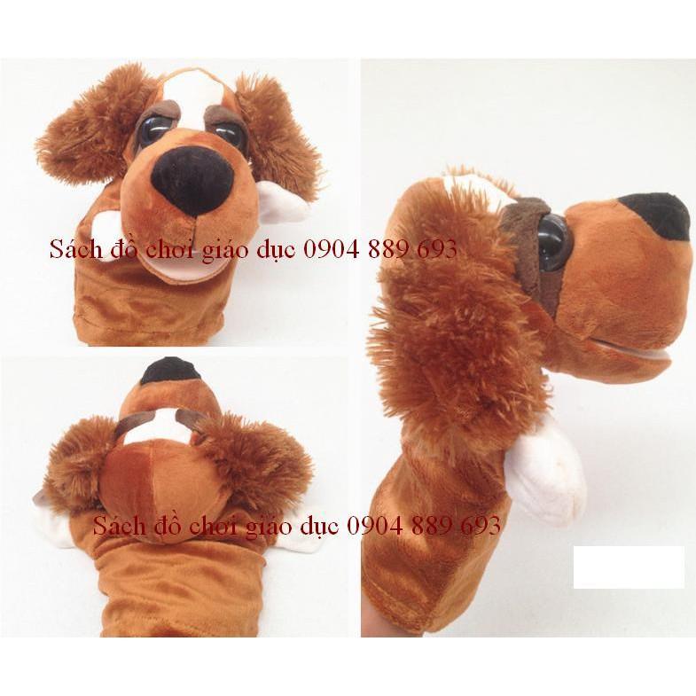 Rối bàn tay hình con chó tai xù NICI (hình các con vật)