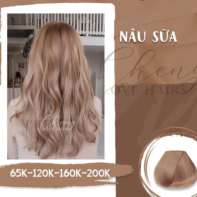 THUỐC NHUỘM TÓC NÂU SỮA - lên từ nền tóc nâu