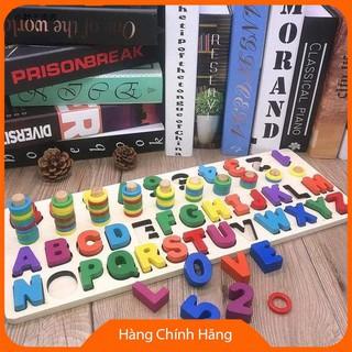 Đồ chơi phát triển kỹ năng cơ bản Bộ ghép cọc số lượng và chữ KLGSOR