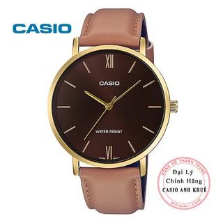 Đồng hồ Nam Casio MTP-VT01GL-5BUDF dây da chính hãng cỡ mặt 40mm