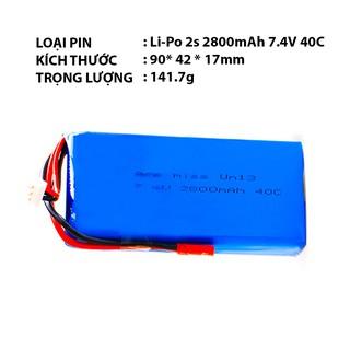 Pin Li-Po 2s 2800mAh 40C 7.4V