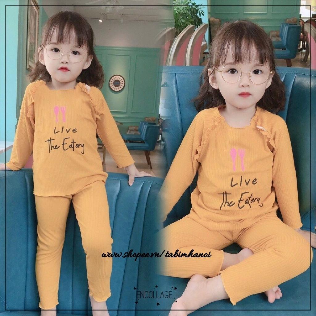 Bộ cotton tăm xinh xắn QATE381 cho bé gái