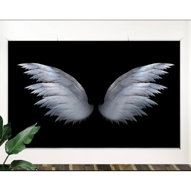 [ĐẸP-SẴN-Freeship extra] Tranh Vải treo tường đôi cánh thiên thần (TẶNG kèm 01 bộ móc treo 10k)