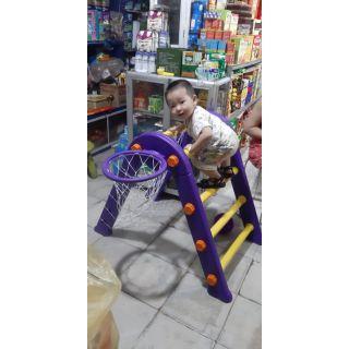 Đồ chơi vận động đa năng bóng rổ, bóng đá, leo thang pediasure cho bé