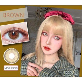 (20.DEC.1)HYZONG Series,TINA Brand,14.0mm,(Grade 0-8.00), Contact Lens yearly use(brown)