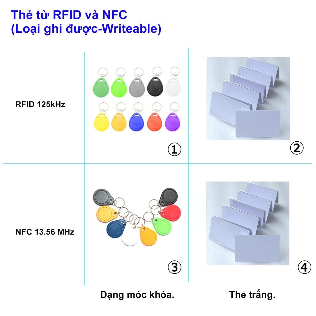 Thẻ từ RFID và NFC [Writeable]. Thẻ thang máy, thẻ từ gửi xe máy, thẻ NFC Tag.