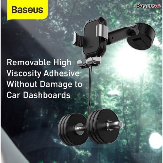 Giá đỡ điện thoại hút chân không dùng gắn kính hoặc táp lô trên xe hơi Baseus Tank Gravity Car Mount