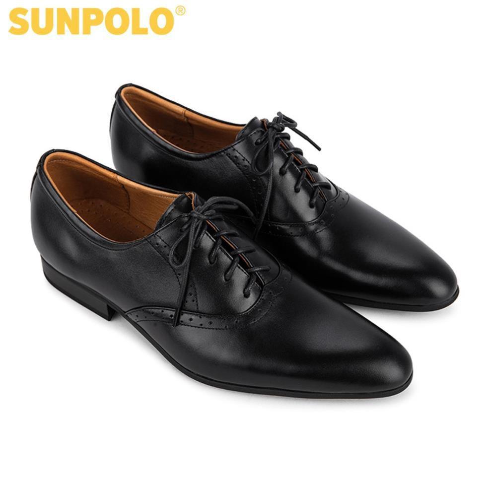 [Sale 3/3]Giày Tây Nam Da Bò SUNPOLO Đen - SUKS5572D -x13