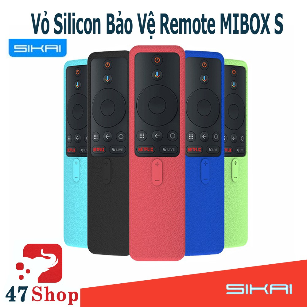 Vỏ silicon điều khiển Mibox S 2019 - Vỏ silicon bảo vệ remote Mibox S