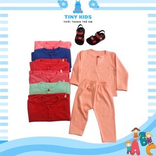 Quần áo dài tay cho bé TINY KIDS, Bộ đồ ngủ cho bé gái bé trai Từ 6-15kg thumbnail