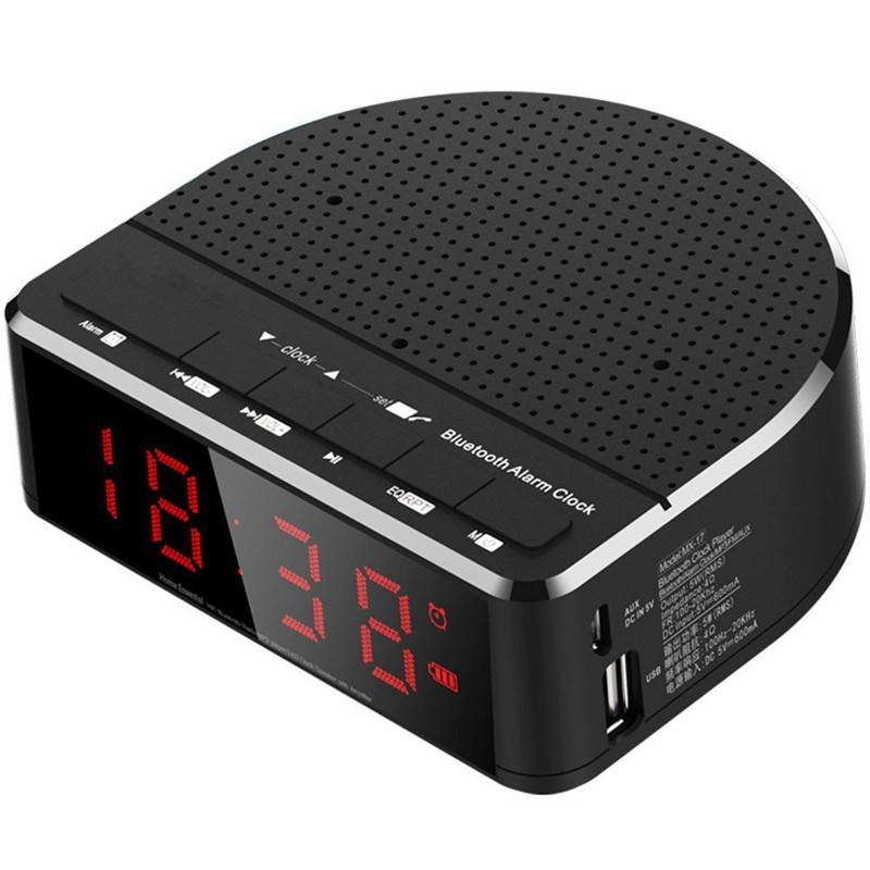 [ HÀNG bán chạy ] Đồng hồ báo thức có loa bluetooth và màn hình hiển thị LCD