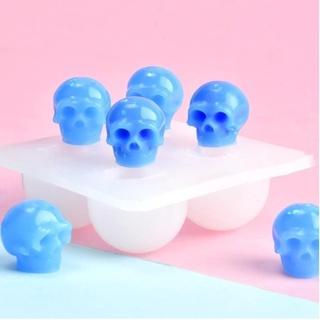 (Takashitree) Skull Silicone Mold Resin Epoxy Resin Diy Halloween Theme Jewelry Making Tool