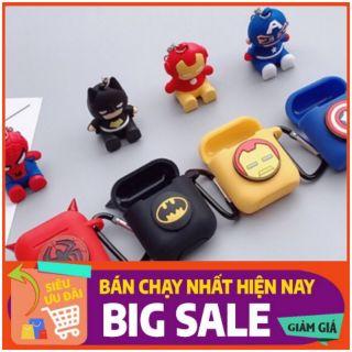 Ốp / Bao / case airpods silicone bảo vệ Logo Marvel và búp bê MS05