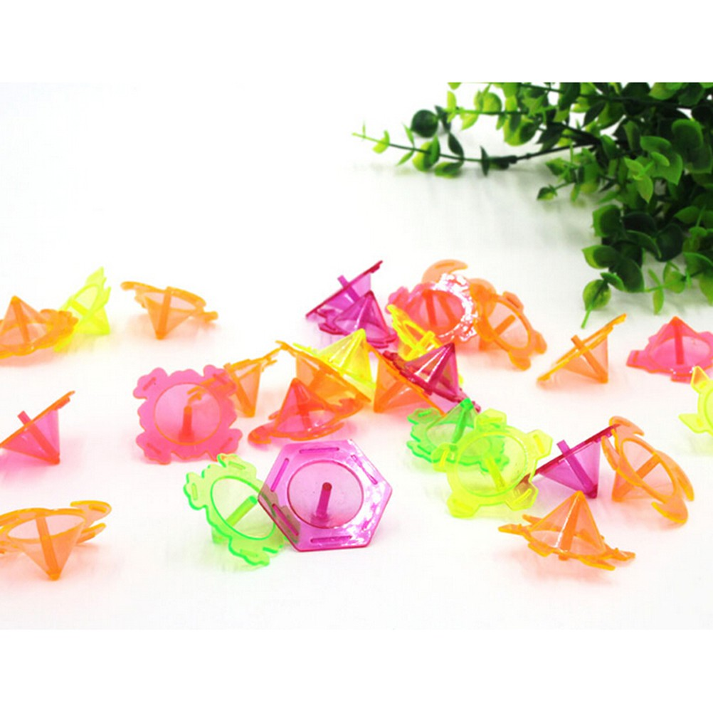 Baω 10pcs/set Mini Colourful Plastic Hand Spinner Finger Focus Stress Gyro Kids Gift ωby