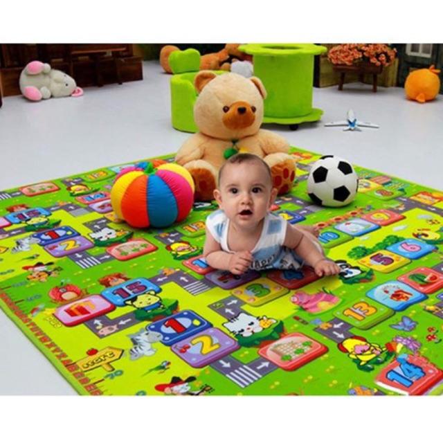Thảm 2 mặt cho bé maboshi m8 x 2m. hàng cao cấp loại 1