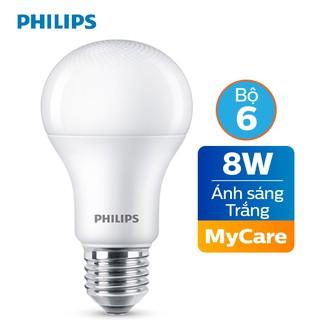 Bộ 6 Bóng đèn Philips LED MyCare 8W 6500K E27 A60 - Ánh sáng trắng thumbnail